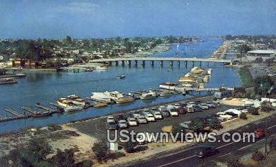 Marine Ave. - Balboa Island, California CA Postcard