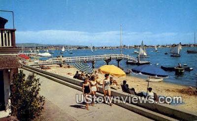 Bayfront - Balboa Island, California CA Postcard