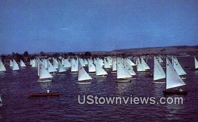 Balboa Bay - California CA Postcard