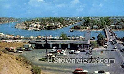 East Bay Channel - Balboa Island, California CA Postcard