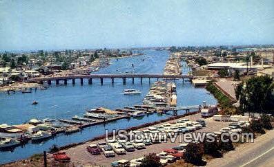 Yacht Basin - Newport Harbor, California CA Postcard