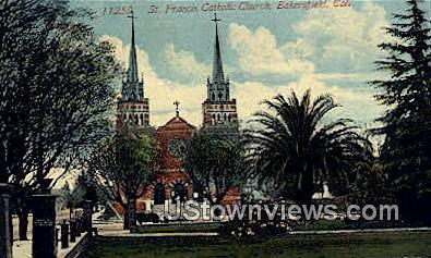 St. Francis Catholic Church - Bakersfield, California CA Postcard