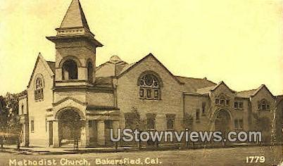 Methodist Church - Bakersfield, California CA Postcard