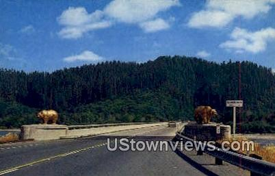 Klamath River Bridge - California CA Postcard