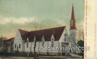 Church - Santa Rosa, California CA Postcard