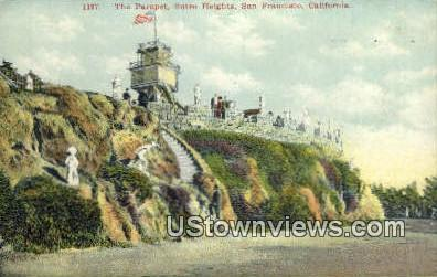 The Parapet, Sutro Heights - San Francisco, California CA Postcard