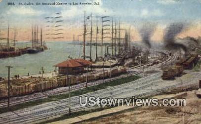 St. Pedro - Los Angeles, California CA Postcard