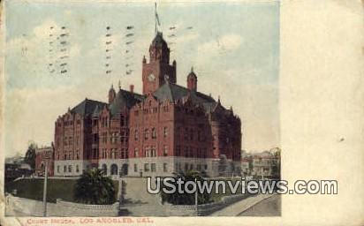 Court House - Los Angeles, California CA Postcard