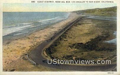 Coast Highway - Los Angeles, California CA Postcard