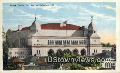 Shrine Temple - Los Angeles, California CA Postcard