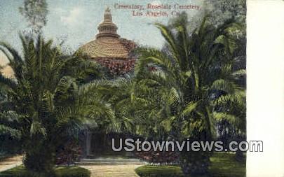 Rosedale Cemetery - Los Angeles, California CA Postcard