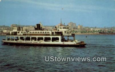 Coronado Ferry - San Diego Bay, California CA Postcard