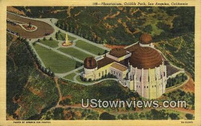 Planetarium, Griffith Park - Los Angeles, California CA Postcard