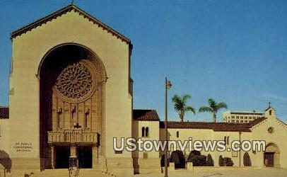 St. Paul's Cathedral - Los Angeles, California CA Postcard