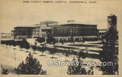Kern County General Hospital - Bakersfield, California CA Postcard