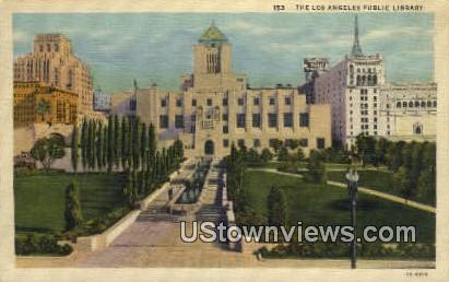Public Library - Los Angeles, California CA Postcard
