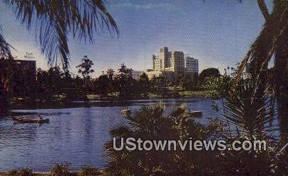 Mac Arthur Park - Los Angeles, California CA Postcard