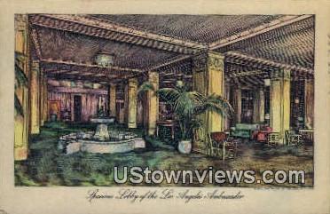 Los Angeles Ambassador - California CA Postcard