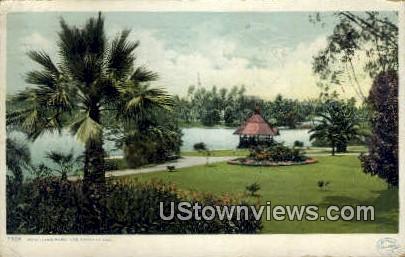 West Lake Park - Los Angeles, California CA Postcard