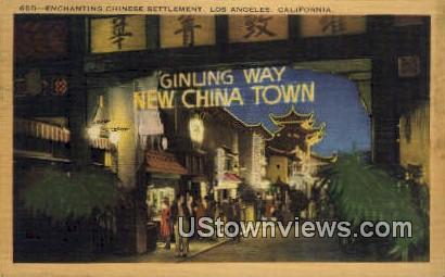 Chinese Settlement - Los Angeles, California CA Postcard