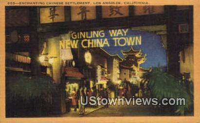 Chinese See - Los Angeles, California CA Postcard