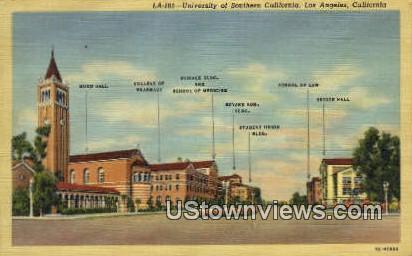 University of Southern CA - Los Angeles, California CA Postcard