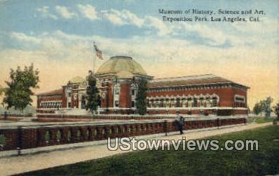 Museum of History - Los Angeles, California CA Postcard
