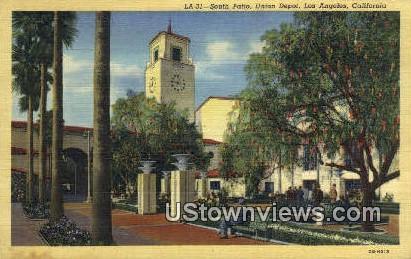 Union Depot - Los Angeles, California CA Postcard