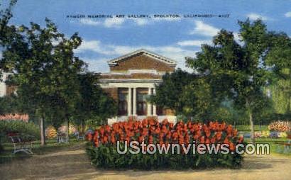 Haggin memorial Art Gallery - Stockton, California CA Postcard