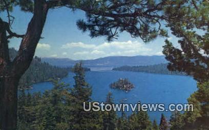 Emerald Bay - Lake Tahoe, California CA Postcard