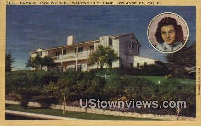 Home of Jane Withers - Los Angeles, California CA Postcard