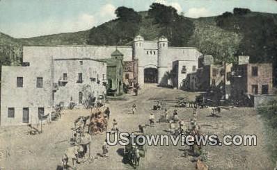 Indian Street - Universal City, California CA Postcard