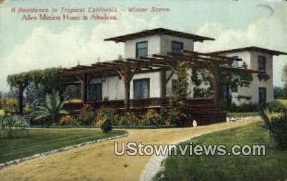 Allen Mission Home - Altadena, California CA Postcard