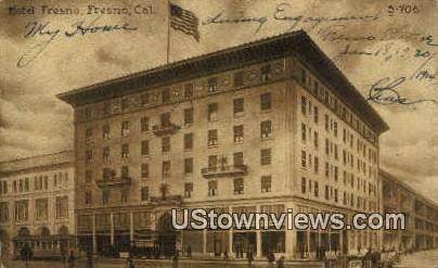 Hotel Fresno - California CA Postcard