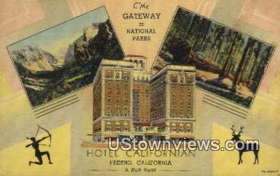 Hotel Californian - Fresno Postcard