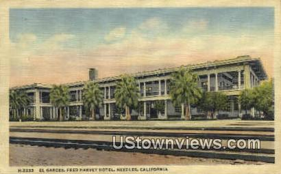El Garces, Fed Harvey Hotel - Needles, California CA Postcard