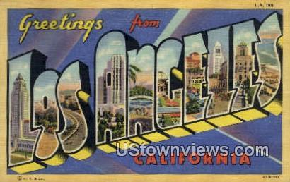 Greetings From - Los Angeles, California CA Postcard