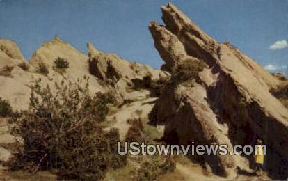 Vasquez Rocks - Los Angeles, California CA Postcard