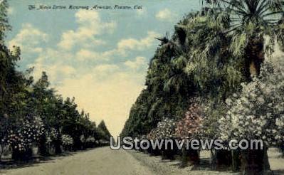 Main Drive - Fresno, California CA Postcard