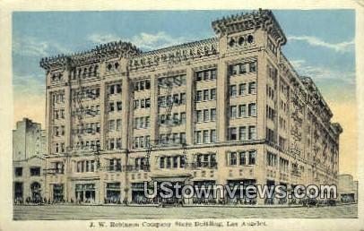 JW Robinson Co Store Bldg - Los Angeles, California CA Postcard