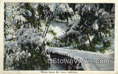 Winter - Mt. Lowe, California CA Postcard