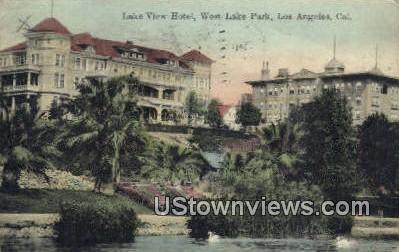 Lake View Hotel - Los Angeles, California CA Postcard