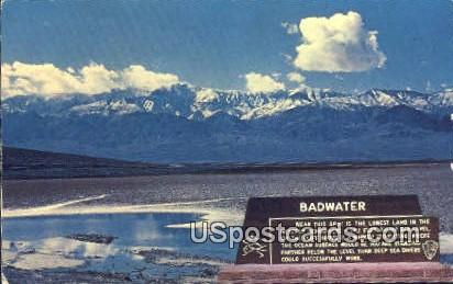 Bad Water, Death Valley National Monument - California CA Postcard
