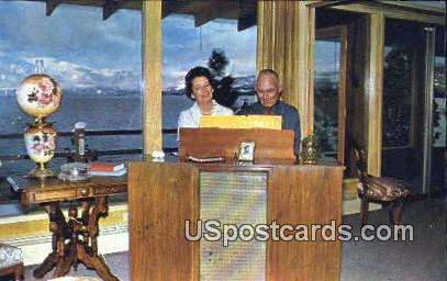 Grace & Shuler Bland - Lake Tahoe, California CA Postcard