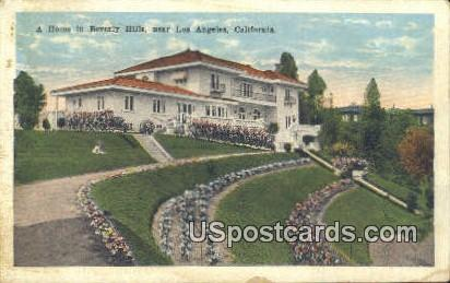 Home in Beverly Hills - Los Angeles, California CA Postcard
