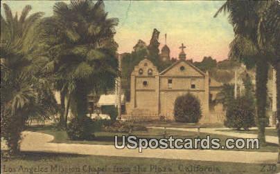 Los Angeles Mission Chapel - California CA Postcard