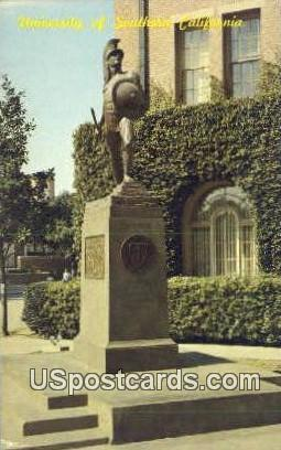 Tommy Trojan, Statue, U of Southern California - Los Angeles Postcard