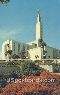 Los Angeles Mormon Temple - California CA Postcard