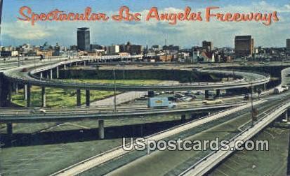 Santa Monica, Harbor Freeway Interchange - Los Angeles, California CA Postcard