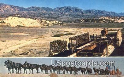 Old Harmony Borax Mill - Death Valley, California CA Postcard